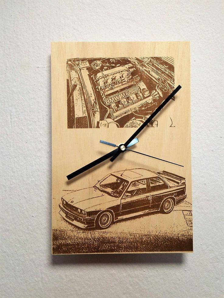 BMW M3 E30 M POWER Wooden wall clock http://etsy.me/2AmRgLz