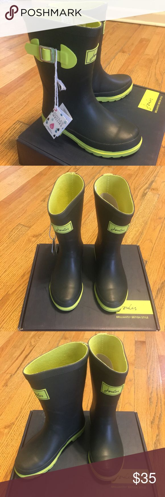 NIB Joules Wellies Kids Rain Boots - Sz 13 New in a Box Joules Shoes Rain & Snow Boots