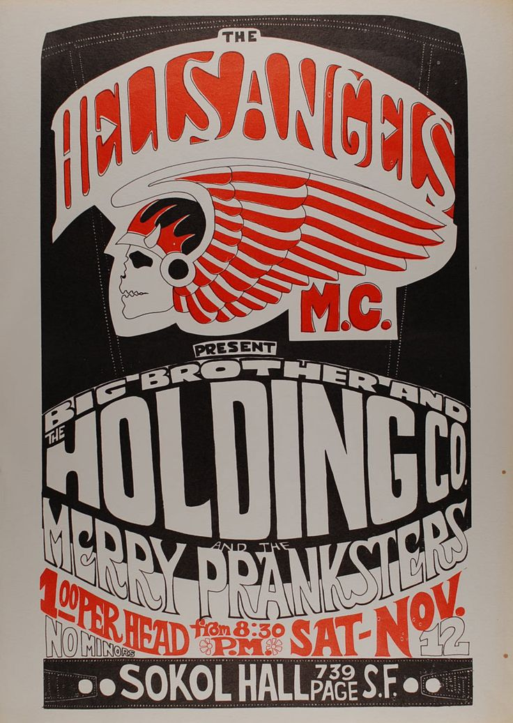 The Hells Angels present Big Brother & the Holding Company and the Merry Pranksters Sokol Hall San Francisco, CA Nov 12