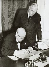 Prime Minister Robert Menzies and British Prime Minister Winston Churchill in 1941