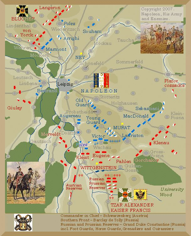 Battle of Leipzig 1813 : Battle of Nations : Napoleon : Schlacht : Bataille