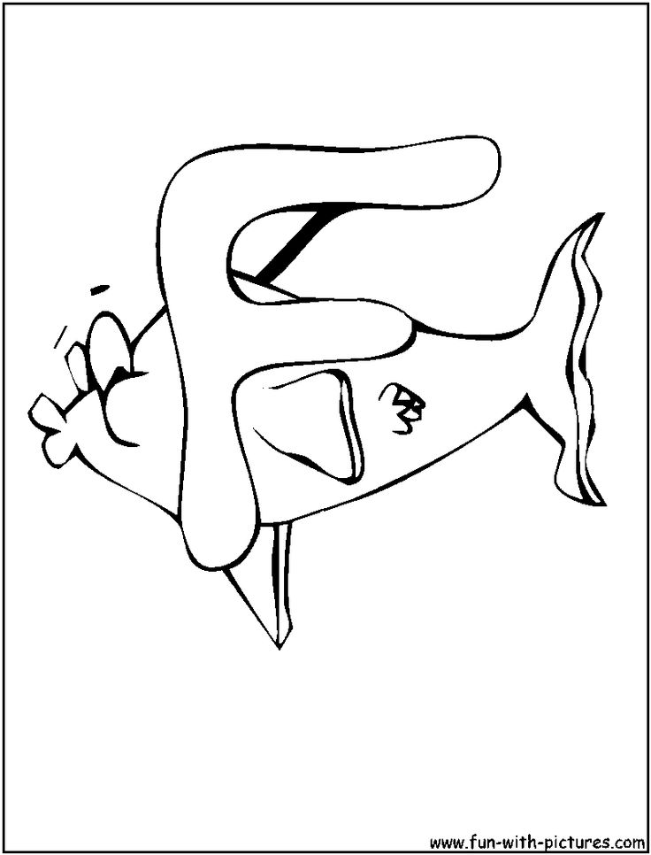 f for fish coloring pages - photo #24