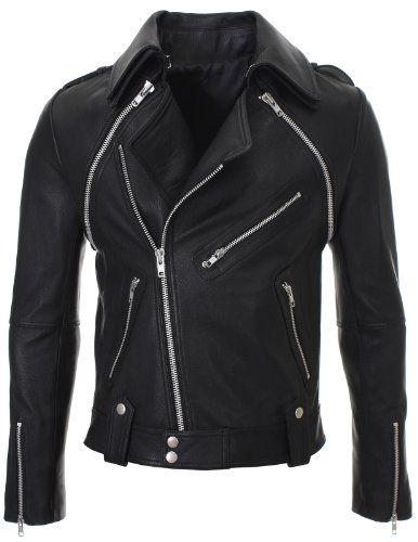 flatseven homme slim veste en cuir avec manches detachable lj703 xs flatseven http - Smoking Mariage Hugo Boss