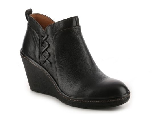 Women's Sofft Carminda Wedge Bootie - Black