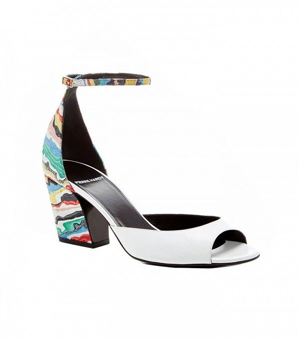 Pierre Hardy Painted Leather and Suede Sandals
