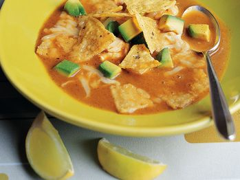 Chickpea Tortilla Soup with New Mexico Chile Salt