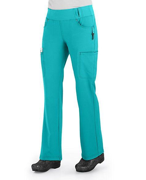 2d24ac68664 Cherokee Iflex Mid Rise Pull On Knit Waist Scrub Pants   Scrubs & Beyond