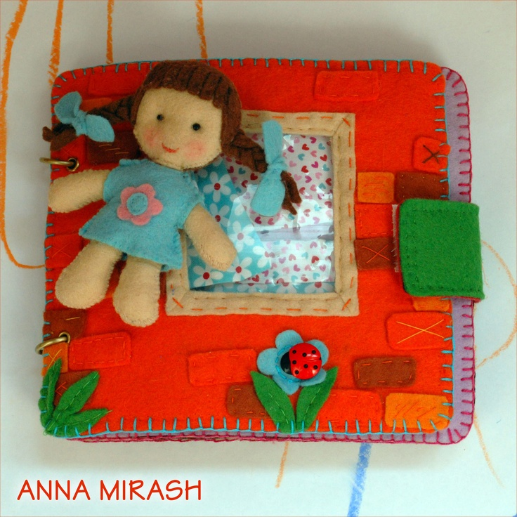 Diy Felt Book Cover : Anna mirash crafts felt home book diy quiet ideas