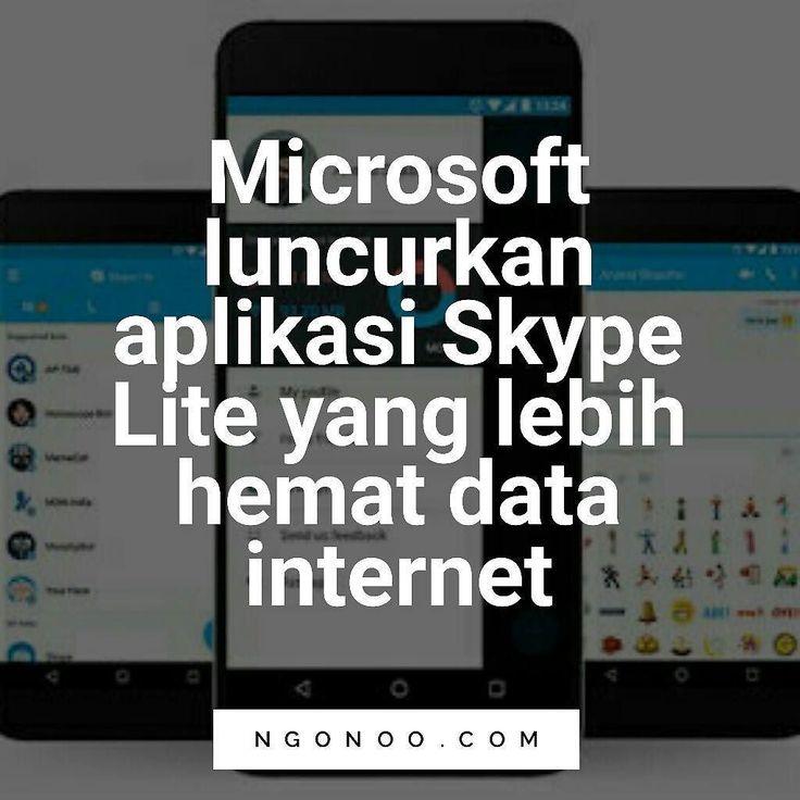 https://ngonoo.com CEO Microsoft Satya Nadella mengumumkan versi baru Skype bernama Skype Lite. Skype Lite merupakan versi Skype yang dirancang untuk wilayah dengan koneksi internet yang terbatas.  Keunggulan Skype Lite ini adalah konsumsi data internetnya yang lebih ringan sebagai fitur utamanya. Coconut untuk negara  Aplikasi ini juga didukung oleh sejumlah fitur lainnya seperti integrasi SMS dan dukungan bahasa lokal. Skype Lite didukung opsi terintegrasi untuk mengurangi penggunaan data…
