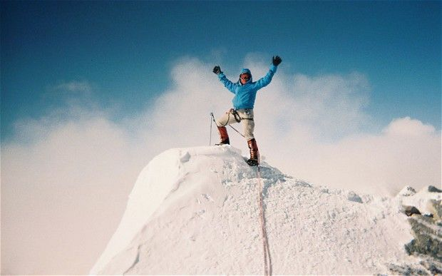 She climbed Antarctica's 16,077 feet Vinson Massif in January this year,    following her 65th birthday.