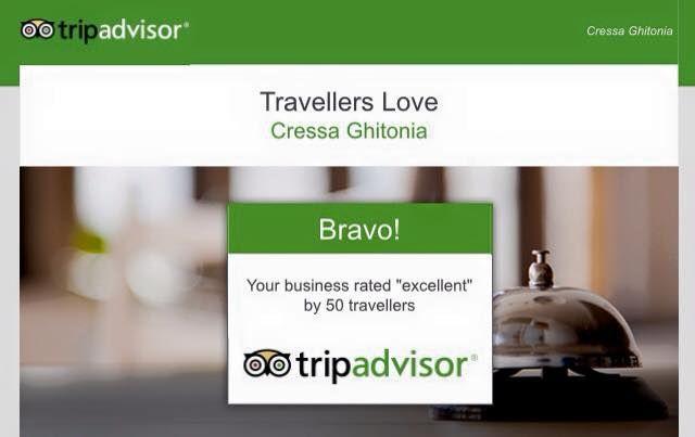 "TripAdvisor says: ""Travelers Love Cressa Ghitonia""!!! Well, we love you more!! #Cressa_Ghitonia #Cretan #village #Crete"
