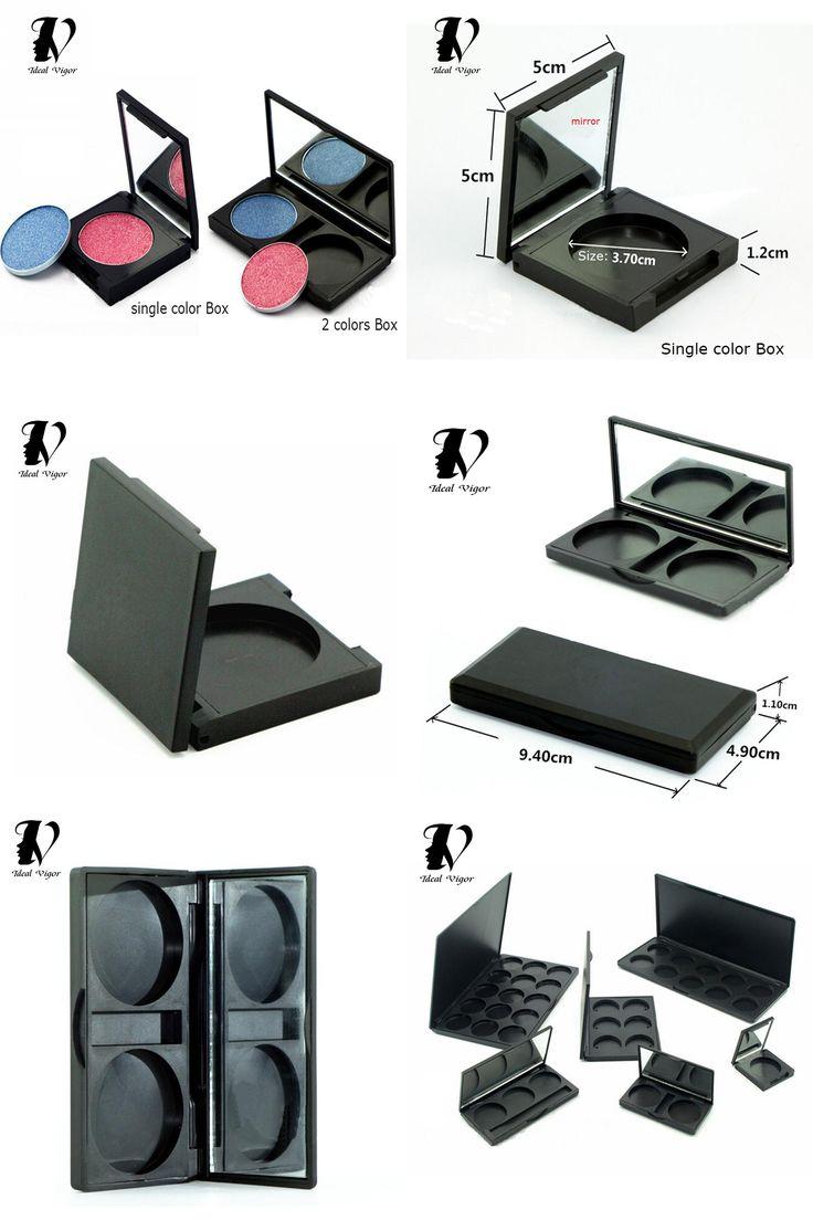 [Visit to Buy]  Ideal Vigor 2 Types Empty Magnetic Eyeshadow Palette DIY Makeup Box Concealer Aluminum Pans With Palette Makeup Tools  #Advertisement