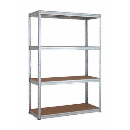 OBI Metall-Schwerlast-Steckregal Verzinkt 180 cm x 120 cm x 50 cm