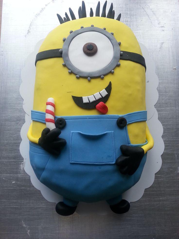 Minionek, tort minionki, tort urodzinowy dla dziecka, żółty stworek, tort angielskim, Minionek Cake
