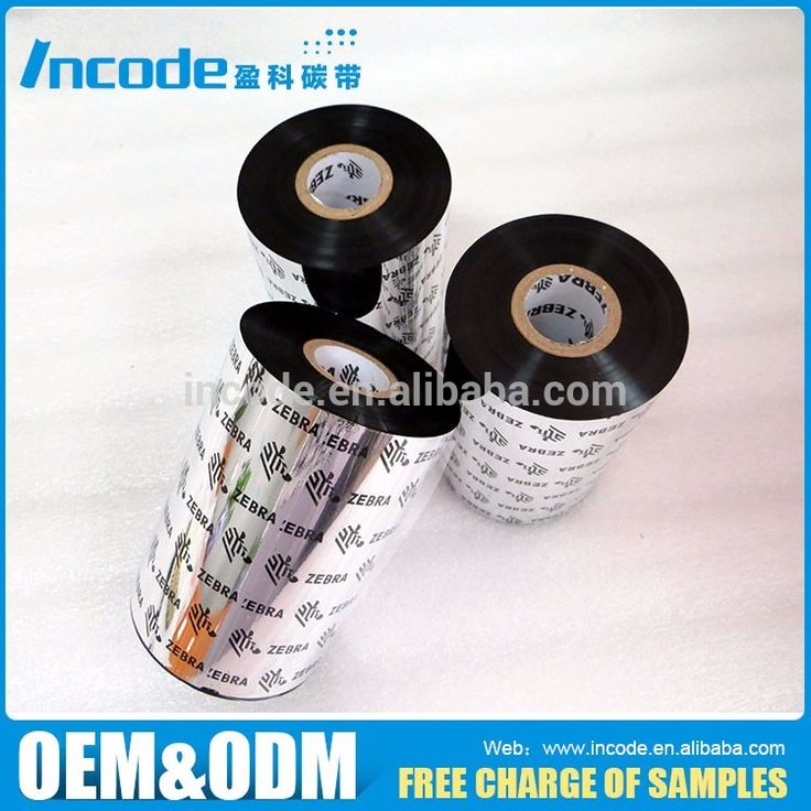 Zebra barcode printer used thermal transfer Resin ribbon for zebra printer