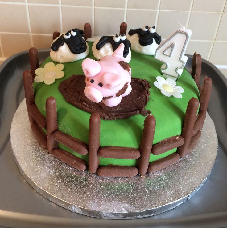 Farm cake pig sheep mud