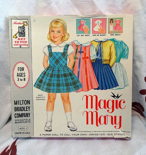 Vintage 1962 Magic Mary Magnetic Paper Doll from CurioCabinet on Etsy