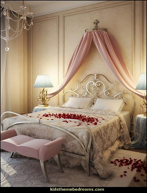 Romantic theme bedroom posh princess theme bedroom ideas for Posh bedroom designs