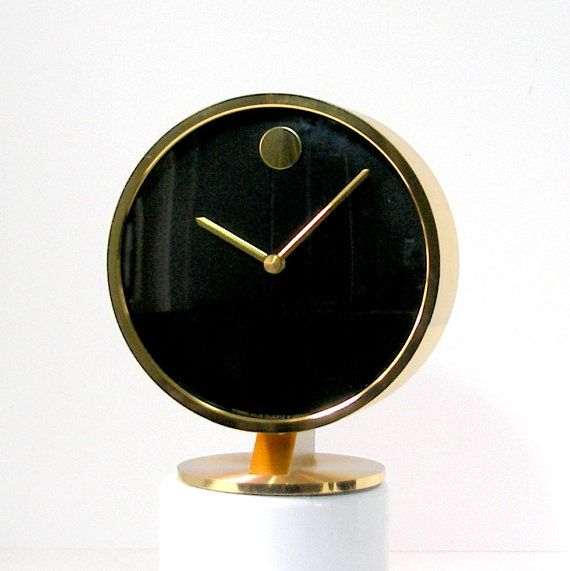 Howard Miller Horwitt Movado Brass Clock