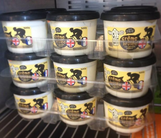 Check out what's just landed in our fridge, our new limited edition crème brûlée created by double Olympic gold medallist and yoghurt fanatic Geraint Thomas! #nobull # crèmebrûlée