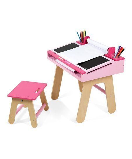 Janod Pink Desk & Chair Art Station Set | zulily