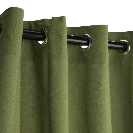 Sunbrella Outdoor Curtain W/ Grommets   Cilantro.High Performance  All Weather Sunbrella