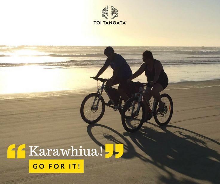 Hei aha te hohorotanga. Ko te mea nui kia eke i tō paihikara! Karawhiua! Don't worry about speed. It's about getting on your bike. Go for it! The team at Toi Tangata has signed up for the Aotearoa Bike Challenge. Together, our team will be clocking in a ride everyday for the entire month. Will you join the wero? Kupu o te wiki: karawhiua. Go for it. Check out the Aotearoa Bike Challenge at https://www.lovetoride.net/nz. #toitangata #kupuotewiki #wordoftheweek #tereo #Māori #upnorth…