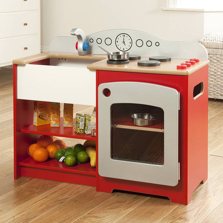 country wooden toy kitchen by millhouse | notonthehighstreet.com
