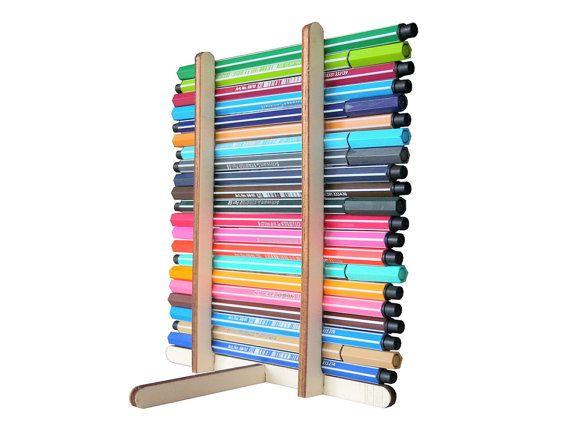 Laser gesneden houten pennenhouder potlood staan door LOHNhome