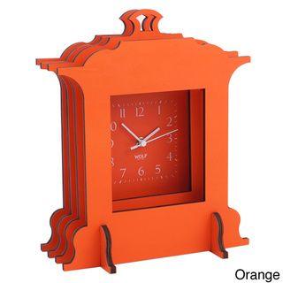 WOLF Wooden Jigsaw Grand Mantel Clock | Overstock.com Shopping - The Best Deals on Clocks