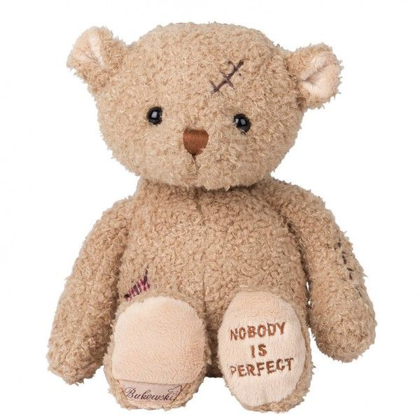 """Kuschliger Teddybär von Bukowski – der Plüschbär """"Nobody's Perfect"""" bringt garantiert jede Kinderaugen zum Strahlen. Ideale Geschenkidee! Jetzt online bestellen und bequem liefern lassen."""