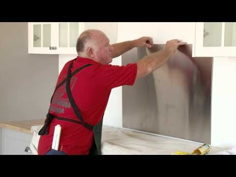 How To Install A Stainless Steel Splashback - DIY At Bunnings - YouTube