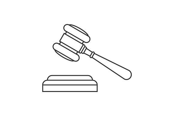 Judge Gavel Line Icon Line Icon Icon Cross Finger Tattoos