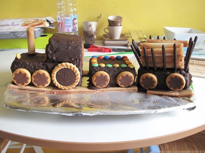 gâteau : train