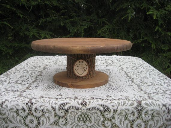 Rustic Wedding Cake Stand Personalized 18 by YourDivineAffair, $58.95