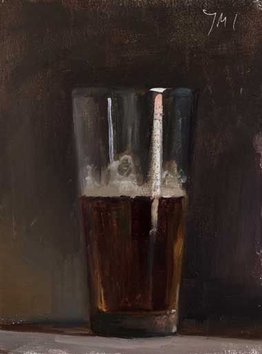Daily painting of Glass of beer -- Julian Merrow Smith