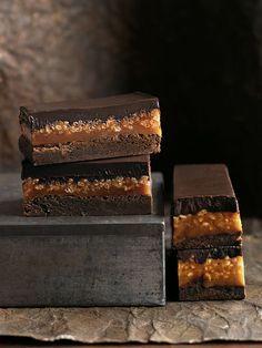 caramelo crujiente brownie