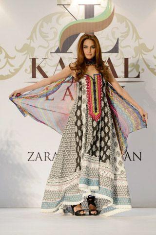Kamal Summer Lawn 2013 by Zara Shahjahan Fashion Showcase in Karachi