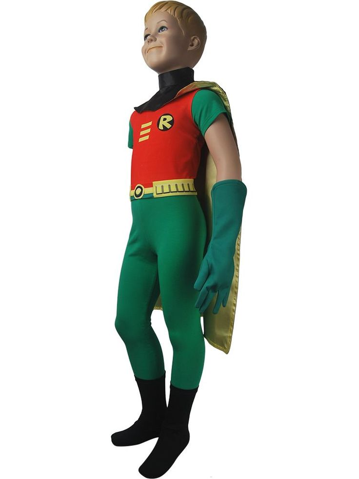 Kids DC Comics superhero Robin Teen Titans Go! cosplay costume outfit top cape halloween costume xmas birthday gift toys