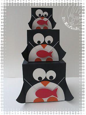 2 Mains de Lutin: BRICOLAGE # 02 :BOÎTES GIGOGNES Des PINGOUINS organisés !