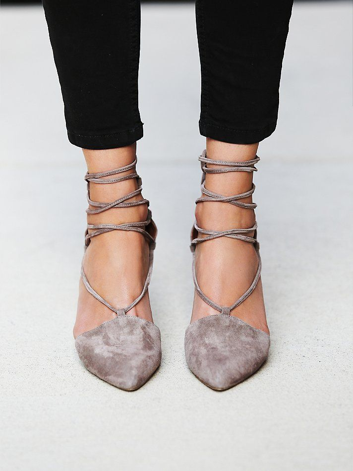 suede lace-up pumps