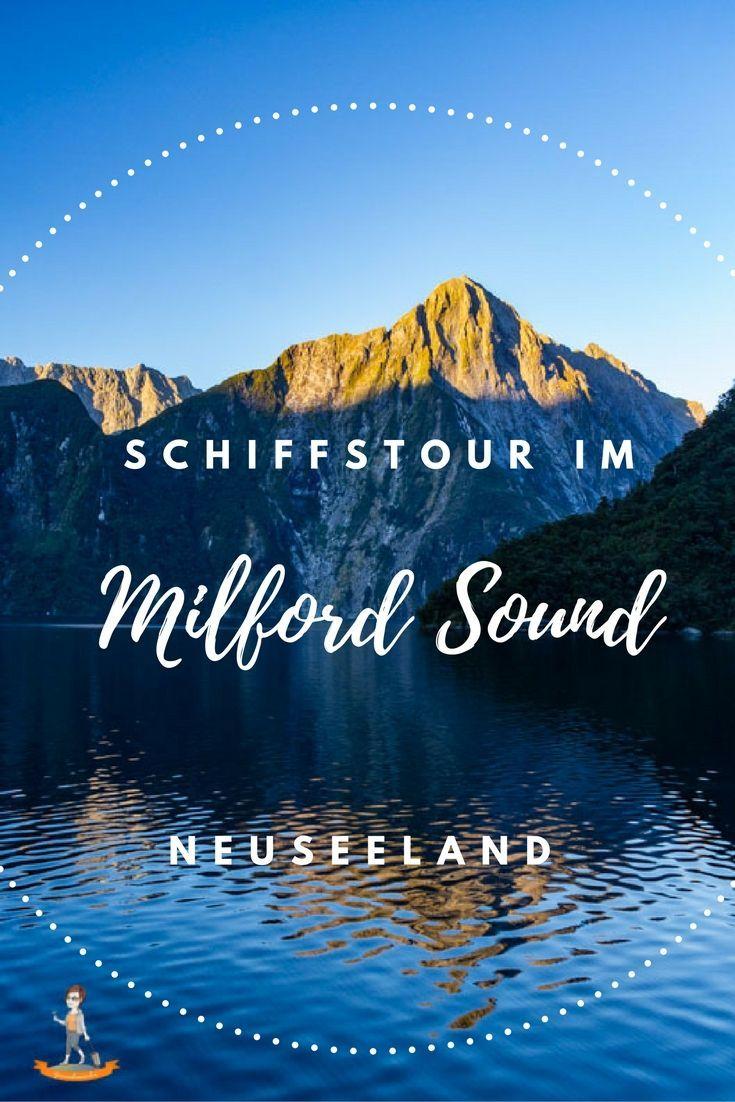 Eine Schiffstour über den Milford Sound darf bei einer Neuseelandreise nicht fehlen, am besten mit Übernachtung   www.genussbummler.de #neuseeland #roadtrip #newzealand #cruise
