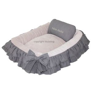 Louis Dog Kelly Bed Pink Grey