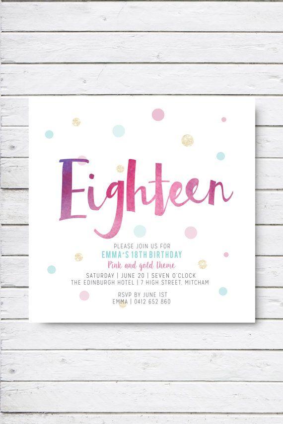 Eighteenth birthday invitation twenty first birthday by RMcreative
