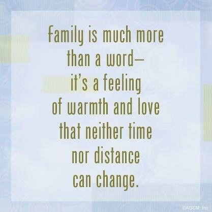 Distance only makes me miss my family more...