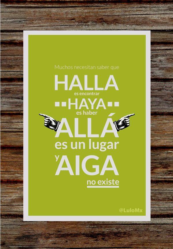 Carteles Pro-ortografia by Luis López, via Behance