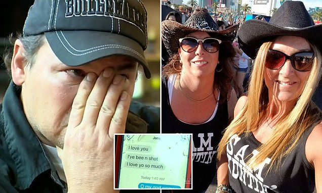 Man receives text message from wife shot in Las Vegas | Daily Mail Online