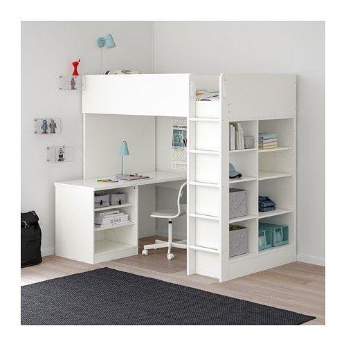 Stuva Loft Bed Combo W 2 Shlvs 3 Shlvs White Twin Ikea Loft Bed Frame Stuva Loft Bed Ikea Loft Bed