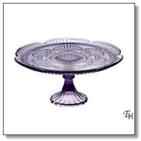 Inch Purple Glass Cake Stand