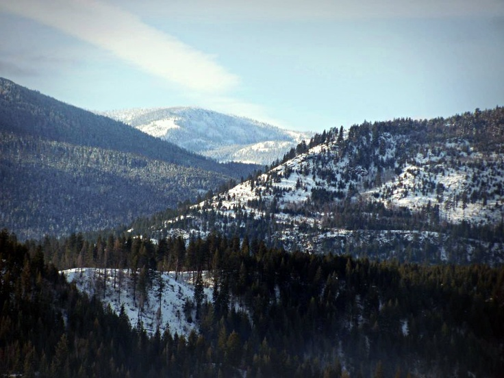 Cabinet Mountains In The Panhandle Of Northern Idaho